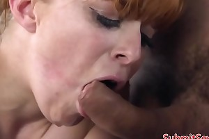 BDSM sub anal hooked to the fullest cocksucking dom