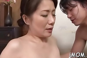 Senior babe fingered hard