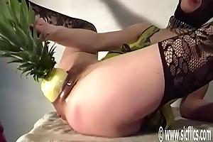 Bellas Brobdingnagian pineapple fuck