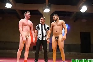 Dominant wrestling hunk assfucking dutiful