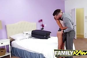 Stepbrother handling that round little ass like a man