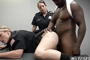 Amazing milf with heavy tits with an increment of german strip Milf Cops