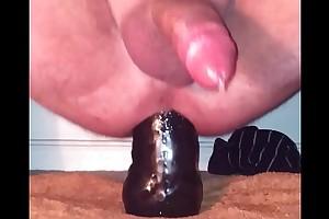 Cum on small dildo