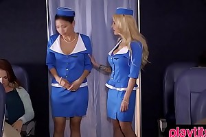 Dominate kirmess stewardess gets fucked by a passenger
