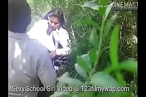 Sexy indian teen school non-specific sex nearby jungle by young wretch