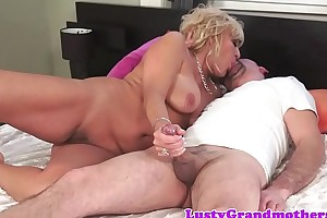 Chubby granny fucked enduring after blowjob