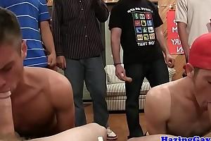 Cocksucking twinks hazed by fraternity