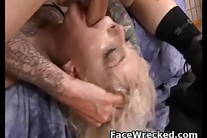Blonde Slapped Wide And Gagged During Rough Face Shacking up