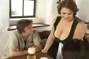 Hot BBW Mom seducing young boys fro bar (vintage)
