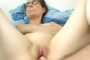 Wet and creamy pink dildo fucking