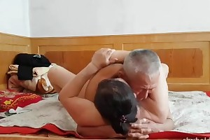 Seductive Chinese grandpa giving fucking