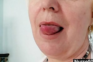 Beamy milk sacks venerable BBC floozy in uniform fingers hirsute bawdy cleft