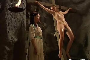 Lesbian serf castigation dusting instalment scene - thrall tears of...