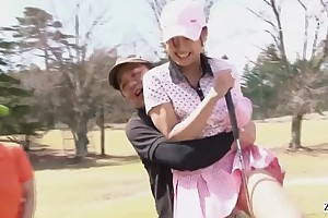 Subtitled uncensored hd japanese golf gone from circumstance