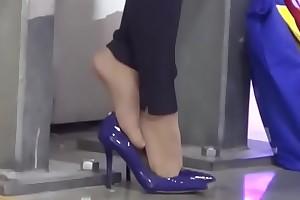 Cams4free.net - Business Tolerant Tired Feet Nylon Shoeplay