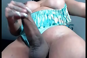 Sarasensation4uxxx sexy shemale big cock masturbation tranny big ass 03