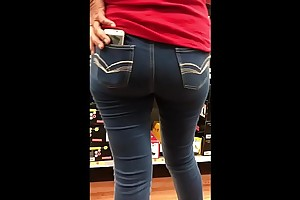 StreetCandids: Latina Granny in in flames shirt nice ass shoe shopping