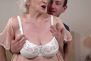 Balmy hot added to kinky Norma wants a young dick