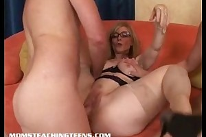 Nina hartley teaches sinless bree how to travel over and enjoyment from mff