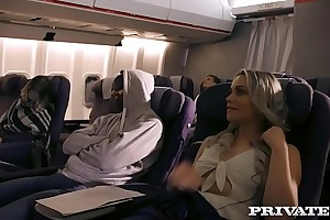 Private.com going to bed on a plane