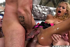 Squirting fuckfest far be passed on matter of veronica leal with the addition of anna deville