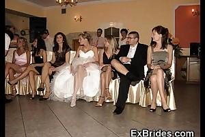 Wedding go steady to upskirts!