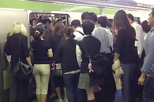 Humping Groping on every side tokyo subway