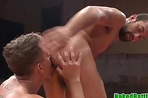 Spanked wrestling musician cocksucks and jerks