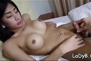 Cute ladyboy in a brutal thing