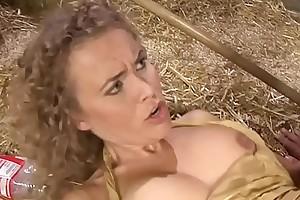 Dreamboat blonde milf slammed by a younger boy in a barn