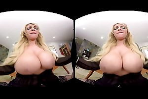 Fuck Kayla Kayden&#039_s big bosom in rub-down the office - Crotchety America VR