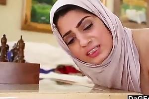 Nadia ali with white strapon